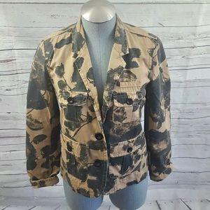 J. Crew floral button blazer field jacket Sz XS